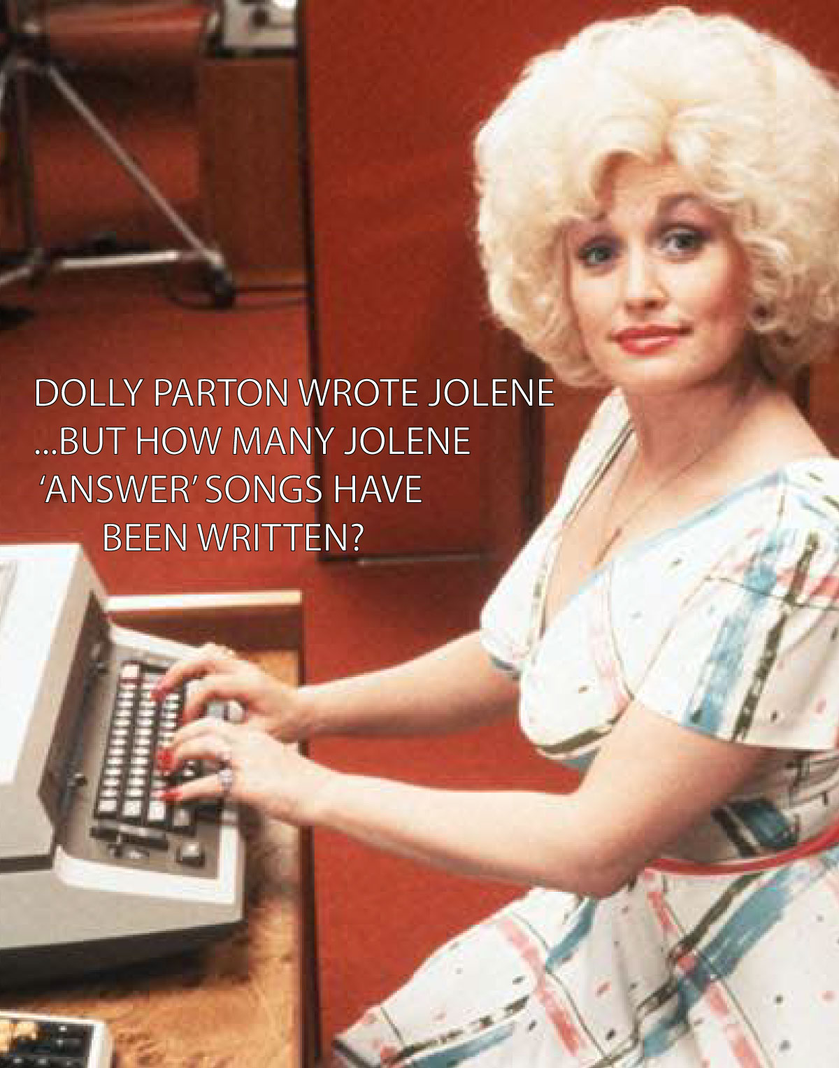Dolly Parton typing